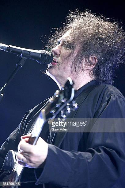 Robert Smith of The Cure performs in concert at The Frank Erwin Center on May 13 2016 in Austin Texas