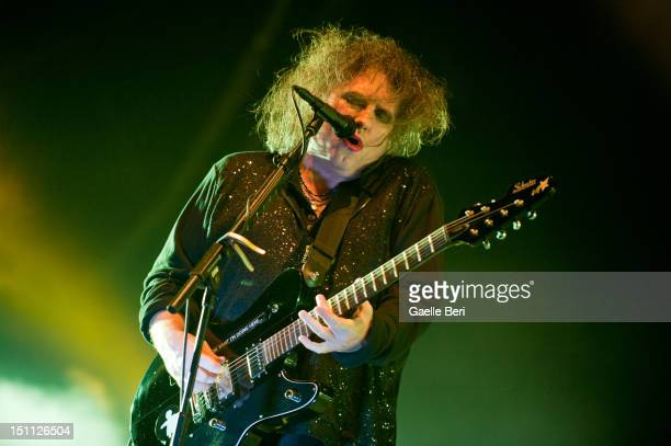 Robert Smith of The Cure performs on stage during Electric Picnic on September 1 2012 in Stradbally Ireland