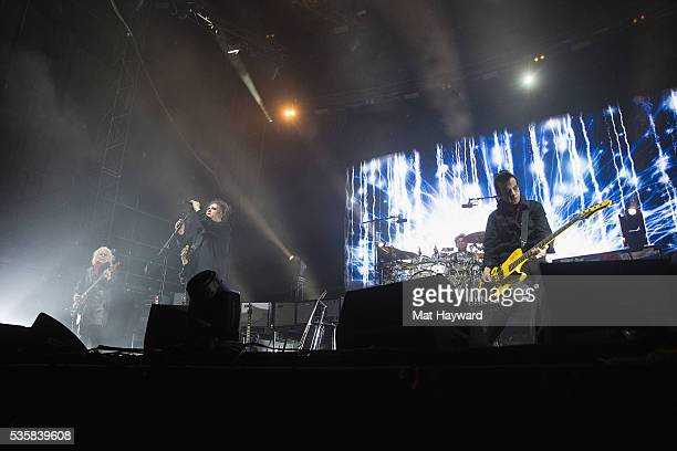 Robert Smith of The Cure performs on stage during the Sasquatch Music Festival at Gorge Amphitheatre on May 29 2016 in George Washington
