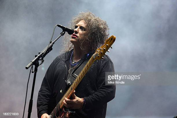 Robert Smith of The Cure performs onstage during Day 2 of the 2013 Austin City Limits Music Festival at Zilker Park on October 5 2013 in Austin Texas