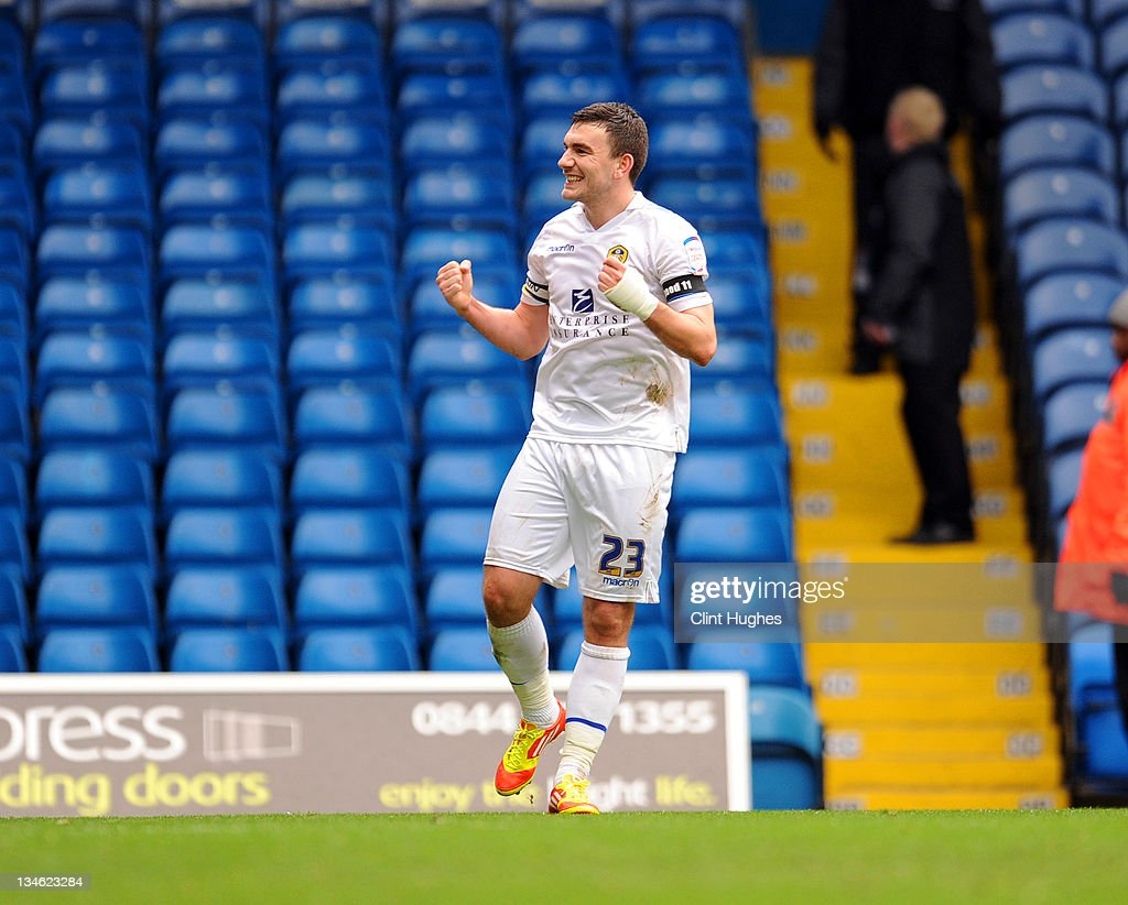 Robert Snodgrass of Leeds celebrates after he scores the second goal of the game for his side during the npower Championship match between Leeds United and Millwall at Elland Road on December 03, 2011 in Leeds, England.