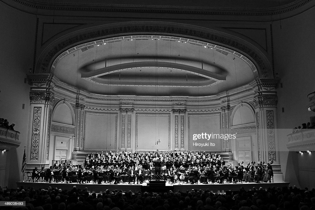 Robert Spano leading the Atlanta Symphony Orchestra in Britten's 'War Requiem' at Carnegie Hall on Wednesday night April 30 2014