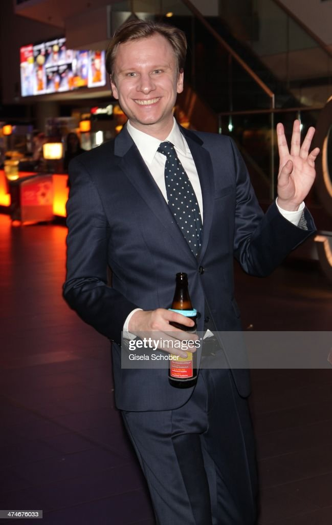 Robert Stadlober attends the German premiere of the film 'Alles Inklusive' at Mathaeser Filmpalast on February 24, 2014 in Munich, Germany.
