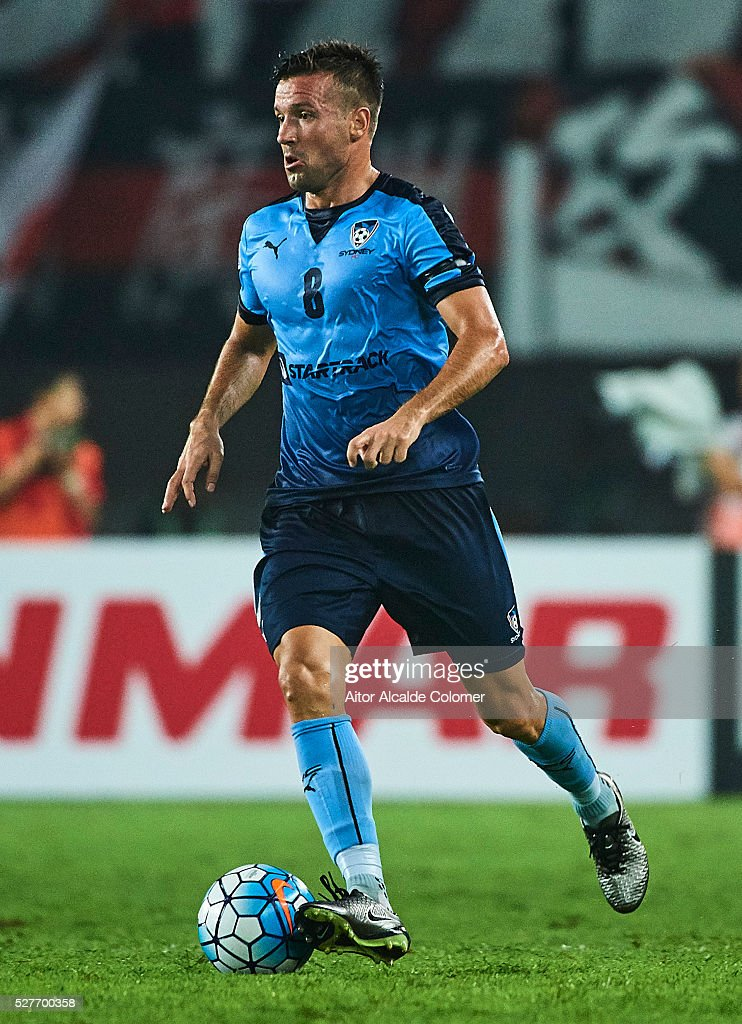 Robert Stambolziev of Sydney FC in action during the AFC Asian Champions League match between Guangzhou Evergrande FC and Sydney FC at Tianhe Stadium on May 3, 2016 in Guangzhou, China.