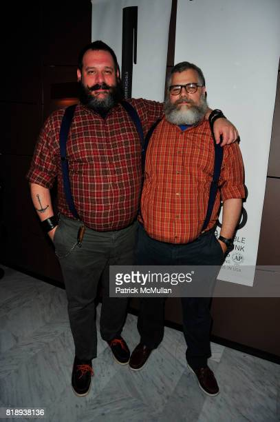 Robert Taglapietra and Jeffrey Costello attend The Launch of the DBA 98 PEN at High Line Room at the Standard on May 14 2010 in New York City