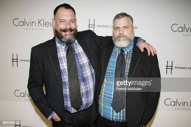 Robert Tagliapietra and Jeffrey Costello attend Calvin Klein Collection Presents 'First Party on the Highline' at The High Line on June 15 2009 in...