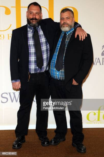 Robert Tagliapietra and Jeffrey Costello attend CFDA AWARDS 2009 ARRIVALS at Alice Tully Hall on June 15 2009 in New York City