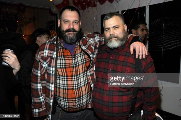 Robert Tagliapietra and Jeffrey Costello attend MAC MILK host a Fashion Week Serenade at Milk Studios on February 14 2010 in New York City