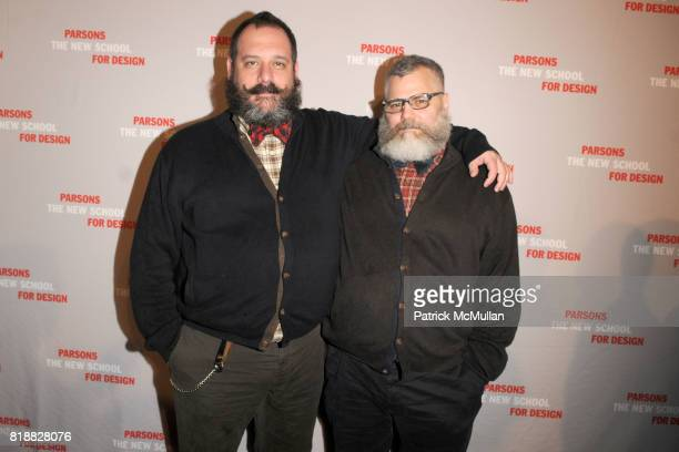 Robert Tagliapietra and Jeffrey Costello attend PARSONS 2010 Fashion Benefit Honoring WILLIAM FUNG and VERA WANG at Pier 60 on April 26 2010 in New...
