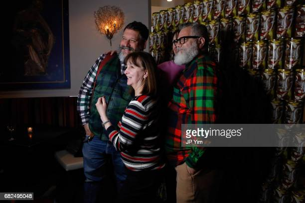 Robert Tagliapietra and Jeffrey Costello attend Saks Fifth Avenue Kiehl's and Art Production Fund celebrate the unveiling of Jeff Koons' Seated...