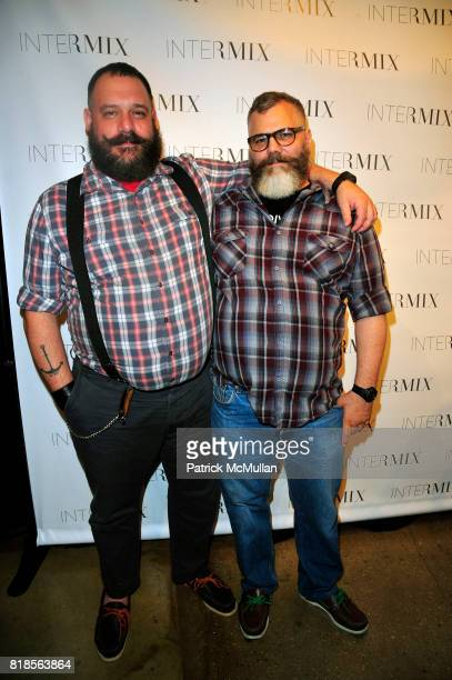 Robert Tagliapietra and Jeffrey Costello attend Turn It Up With INTERMIX at Skylight West NYC on August 4 2010