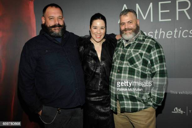 Robert Tagliapietra Patricia Mears and Jeffrey Costello attend The Museum at FIT's American Beauty Opening at The Museum at FIT on November 5 2009 in...