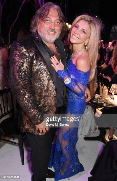 Robert Tchenguiz and Lisa Tchenguiz attend the de Grisogono 'Love On The Rocks' party during the 70th annual Cannes Film Festival at Hotel du...