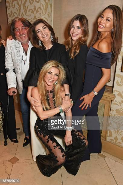 Robert Tchenguiz Fatima Maleki Lisa Tchenguiz Jade Heathcliff and Emma McQuiston Viscountess Weymouth attend Lisa Tchenguiz's party hosted by Fatima...