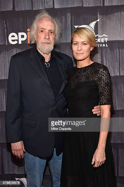 Robert Towne and Robin Wright attend the 'Screenwriters Tribute' event during the 20th Annual Nantucket Film Festival Day 4 on June 27 2015 in...