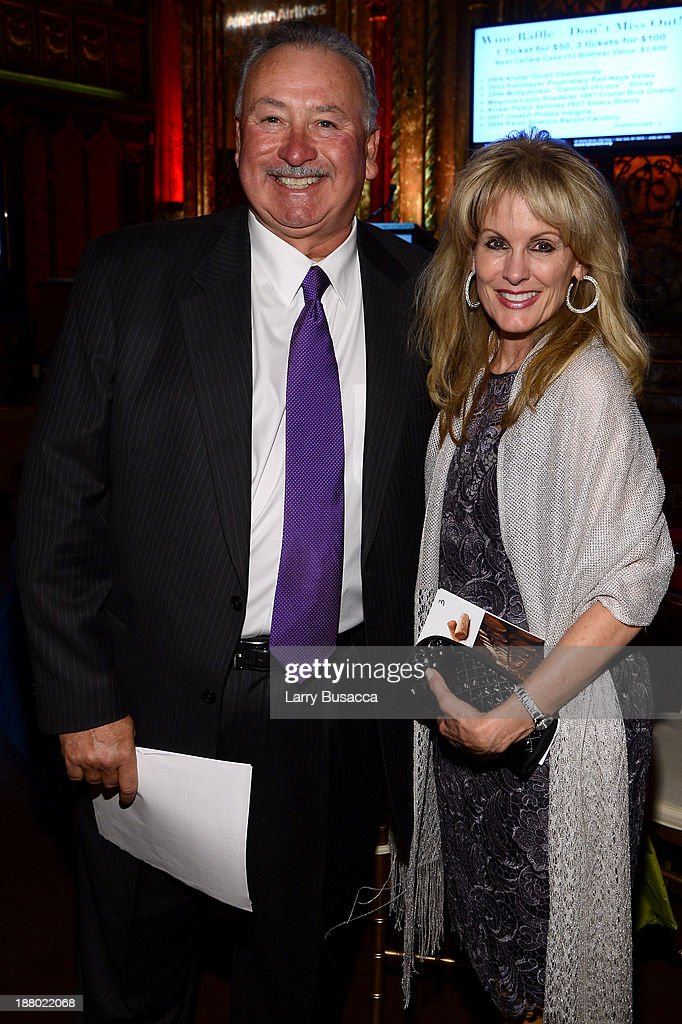 Robert Treadway and Laura Heatherly, CEO of the T.J. Martell Foundation attend T.J. Martell Foundation's Annual World Tour of Wine Dinner at The Angel Orensanz Foundation on November 14, 2013 in New York City.