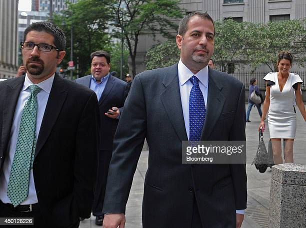 Robert Trosten former chief financial officer of Refco Inc right exits federal court with his attorney Robert Morvillo in New York US on Thursday...