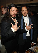 Robert Trujillo and Kirk Hammett of Metallica during 21st Annual Rock and Roll Hall of Fame Induction Ceremony Cocktails and Dinner at Waldorf...