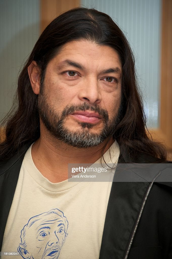 <a gi-track='captionPersonalityLinkClicked' href=/galleries/search?phrase=Robert+Trujillo&family=editorial&specificpeople=213071 ng-click='$event.stopPropagation()'>Robert Trujillo</a> at the 'Metallica: Through The Never' Press Conference at the Fairmont Hotel on September 17, 2013 in San Francisco, California.