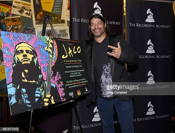 Robert Trujillo attends a screening and QA for the documentary 'Jaco' at Malco's Studio on the Square on October 5 2015 in Memphis Tennessee