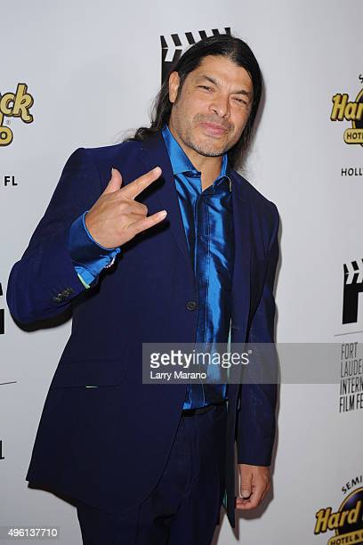 Robert Trujillo attends the Fort Lauderdale International Film Festival Opening Night at Seminole Hard Rock Hotel on November 6 2015 in Hollywood...