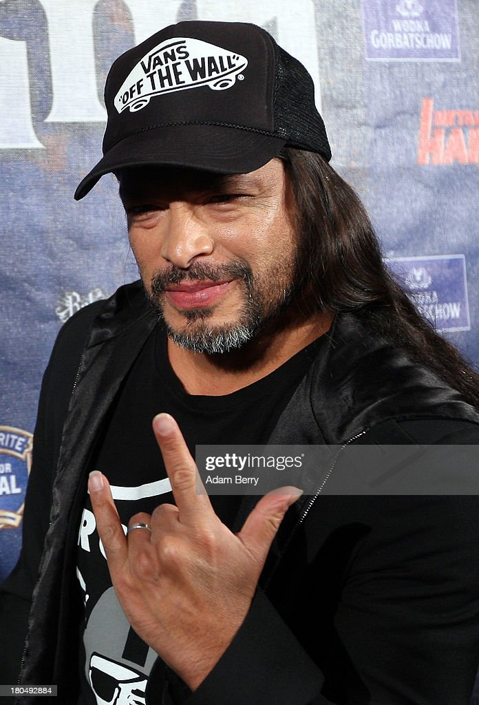 Robert Trujillo, bassist of the band Metallica, arrives for the fifth Metal Hammer Awards at Kesselhaus on September 13, 2013 in Berlin, Germany. The annual prizes are given by Metal Hammer, a German music magazine specialized in Heavy Metal and Hard Rock.