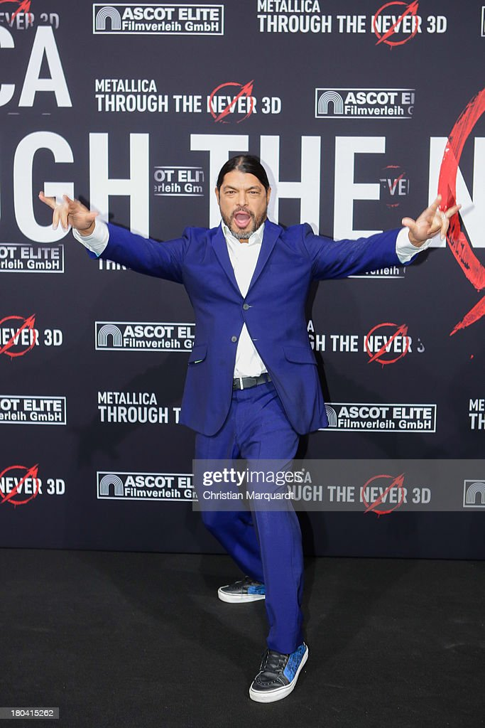 Robert Trujillo of Metallica attends the German premiere of 'Metallica - Through The Never' on September 12, 2013 in Berlin, Germany.