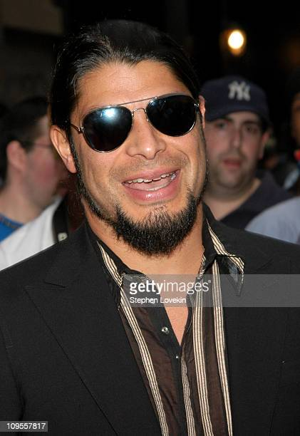Robert Trujillo of Metallica during 'Metallica Some Kind of Monster' New York Premiere Arrivals at Loews 19th Street Theatre in New York City NY...
