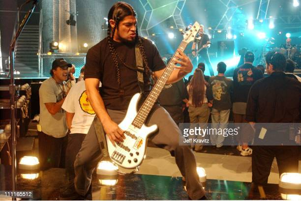 Robert Trujillo of Metallica during MTV Icon Metallica Rehearsals at Universal Studios Stage 12 in Universal City CA United States