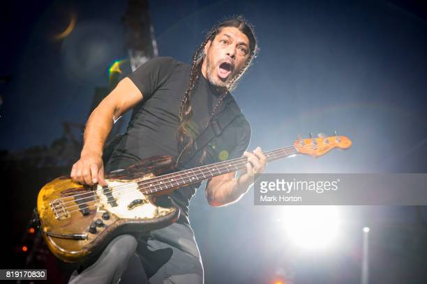 Robert Trujillo of Metallica performs at Parc JeanDrapeau on July 19 2017 in Montreal Canada