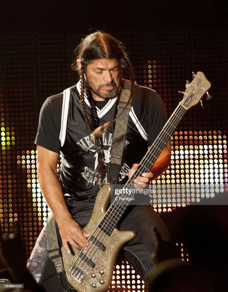 <a gi-track='captionPersonalityLinkClicked' href=/galleries/search?phrase=Robert+Trujillo&family=editorial&specificpeople=213071 ng-click='$event.stopPropagation()'>Robert Trujillo</a> of Metallica performs during the 2012 Voodoo Experience at City Park on October 27, 2012 in New Orleans, Louisiana.