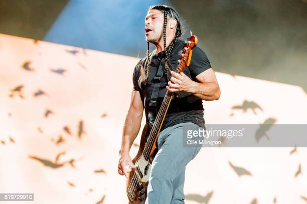 Robert Trujillo of Metallica performs live on stage headlining Day 9 of the 50th Festival D'ete De Quebec on the Main Stage at the Plaines D' Abraham...