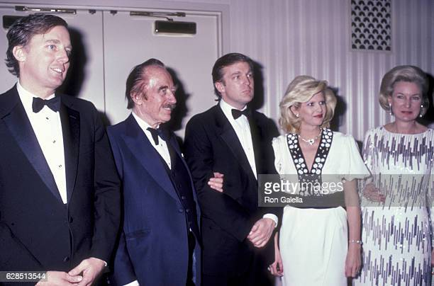 Robert Trump Fred Trump Donald Trump Ivana Trump and Elizabeth Trump attend 38th Annual Horatio Alger Awards Dinner on May 10 1985 at the Waldorf...