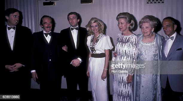 Robert Trump Fred Trump Donald Trump Ivana Trump Elizabeth Trump Mary Anne Trump and Roy Cohn attend 38th Annual Horatio Alger Awards Dinner on May...