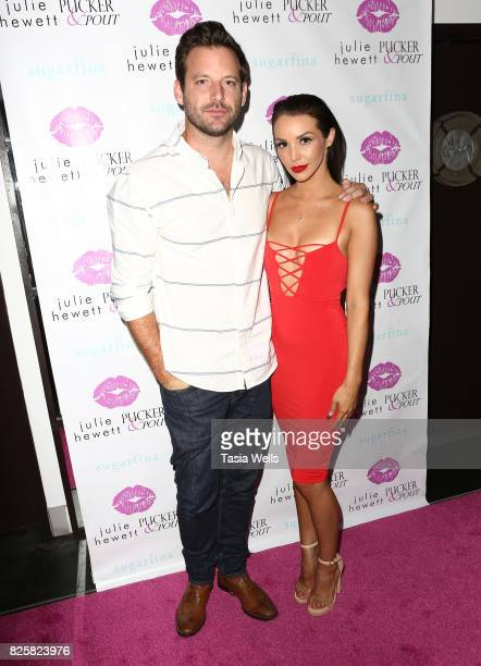 Robert Valletta and Scheana Marie at the Julie Hewett PuckerPout Collaboration Launch Party at SUR Lounge on August 2 2017 in Los Angeles California