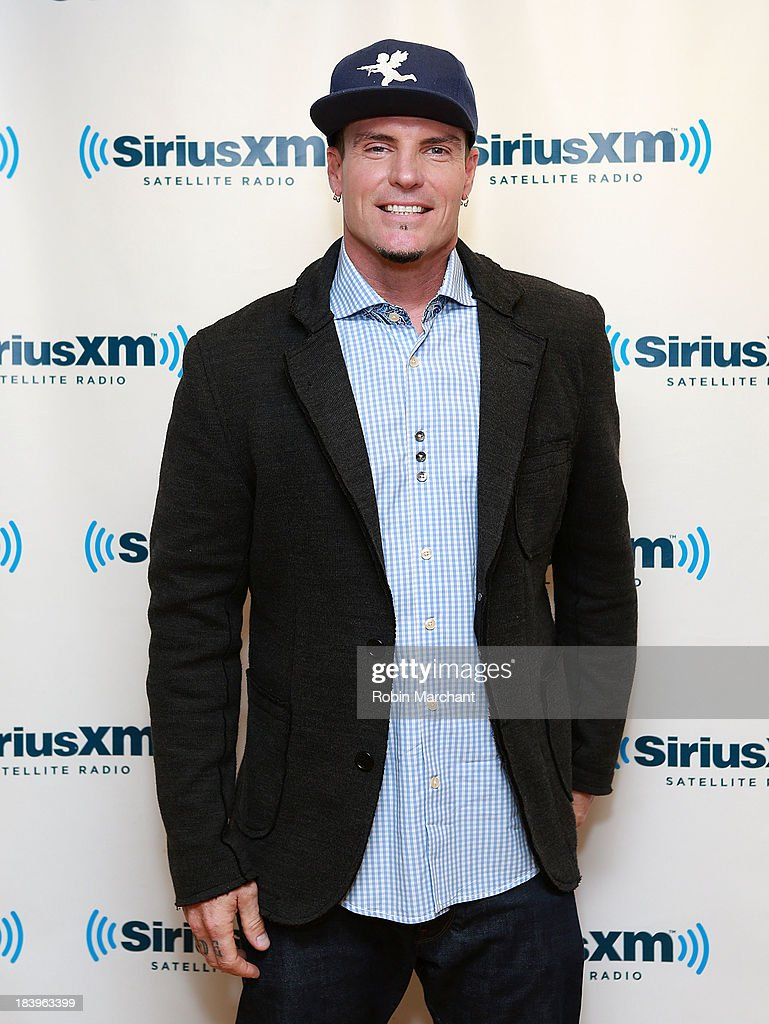 Robert '<a gi-track='captionPersonalityLinkClicked' href=/galleries/search?phrase=Vanilla+Ice&family=editorial&specificpeople=228351 ng-click='$event.stopPropagation()'>Vanilla Ice</a>' Van Winkle visits at SiriusXM Studios on October 10, 2013 in New York City.