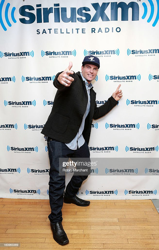 Robert '<a gi-track='captionPersonalityLinkClicked' href=/galleries/search?phrase=Vanilla+Ice&family=editorial&specificpeople=228351 ng-click='$event.stopPropagation()'>Vanilla Ice</a>' Van Winkle visits SiriusXM Studios on October 10, 2013 in New York City.