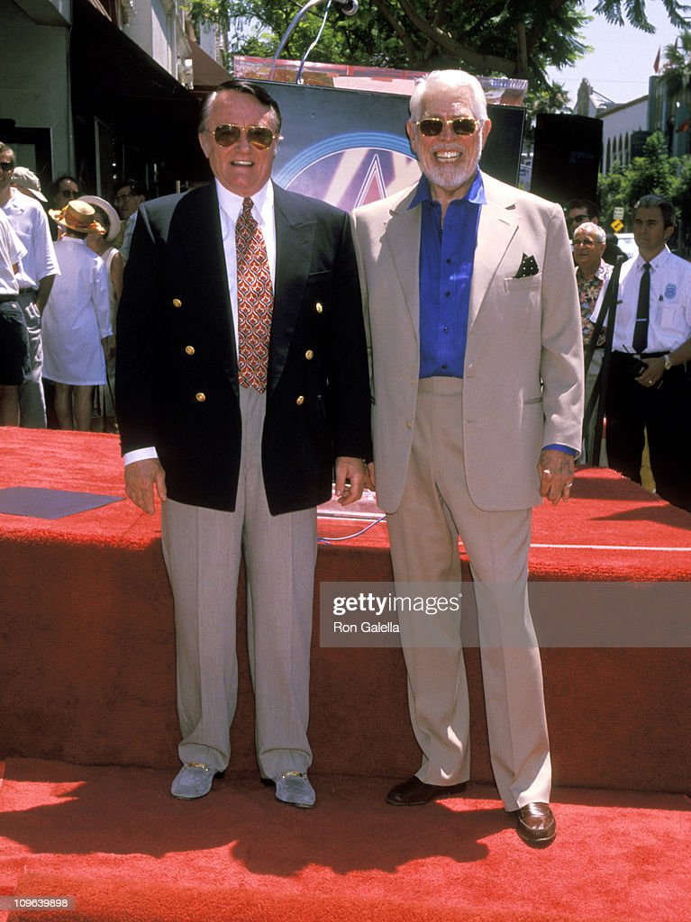 <a gi-track='captionPersonalityLinkClicked' href=/galleries/search?phrase=Robert+Vaughn&family=editorial&specificpeople=242794 ng-click='$event.stopPropagation()'>Robert Vaughn</a> and <a gi-track='captionPersonalityLinkClicked' href=/galleries/search?phrase=James+Coburn&family=editorial&specificpeople=221456 ng-click='$event.stopPropagation()'>James Coburn</a> during <a gi-track='captionPersonalityLinkClicked' href=/galleries/search?phrase=Robert+Vaughn&family=editorial&specificpeople=242794 ng-click='$event.stopPropagation()'>Robert Vaughn</a> Honored with a Star on the Hollywood Walk of Fame for his Achievements in Film at Studio Cafe on Hollywood Boulevard in Hollywood, California, United States.