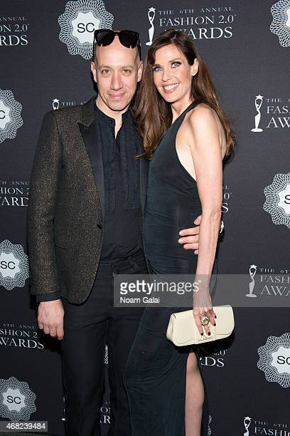 Robert Verdi and Carol Alt attend the 2015 Fashion 20 Awards at Merkin Concert Hall on March 31 2015 in New York City