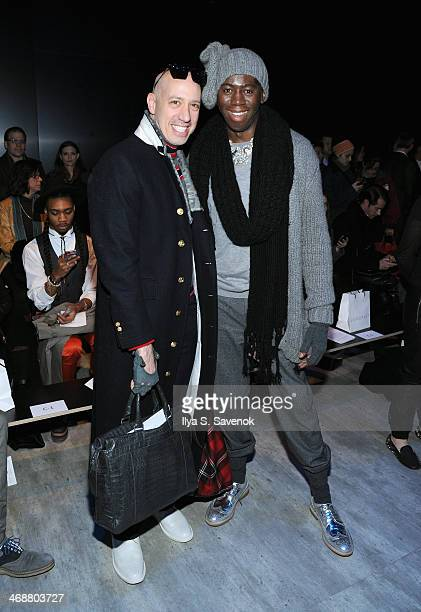Robert Verdi and J Alexander attend the Skingraft fashion show during MercedesBenz Fashion Week Fall 2014 at The Pavilion at Lincoln Center on...