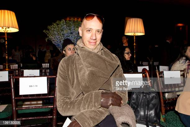 Robert Verdi attends the Bill Blass Fall 2012 fashion show during MercedesBenz Fashion Week at the The Union League Club on February 16 2012 in New...