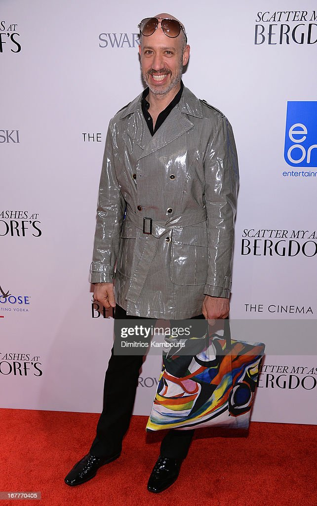 Robert Verdi attends the Cinema Society with Swarovski & Grey Goose premiere of eOne Entertainment's 'Scatter My Ashes at Bergdorf's' at Florence Gould Hall on April 29, 2013 in New York City.
