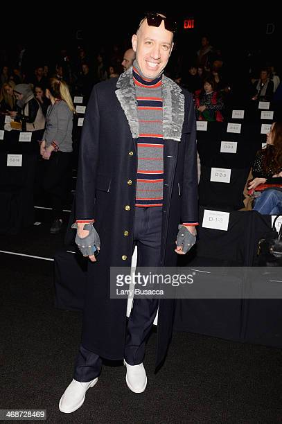 Robert Verdi attends the Naeem Khan fashion show during MercedesBenz Fashion Week Fall 2014 at The Theatre at Lincoln Center on February 11 2014 in...
