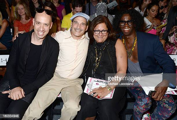 Robert Verdi Phillip Bloch Fern Mallis and Miss J Alexander attend the Betsey Johnson fashion show during MercedesBenz Fashion Week Spring 2014 at...