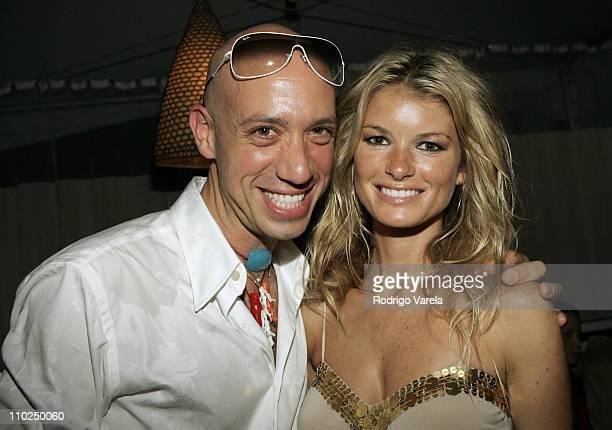 Robert Verdi Sunglass Hut spokesperson with Marisa Miller