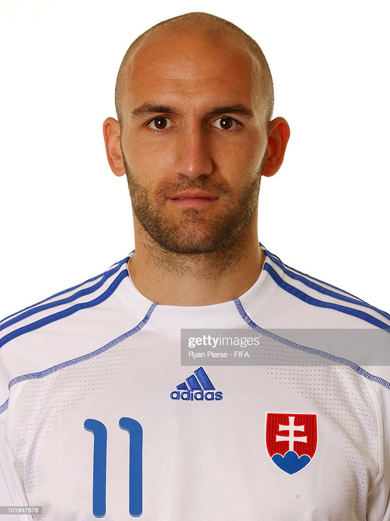 Robert Vittek of Slovakia poses during the official FIFA World Cup 2010 portrait session on June 10, 2010 in Pretoria, South Africa.