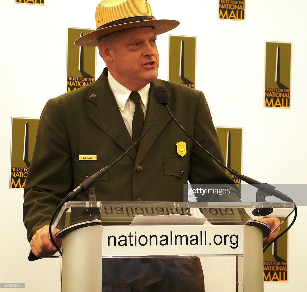 Robert Vogel, superintendent of the National Mall and Memorial Parks, speaks at the Trust for the National Mall luncheon, May 2, 2013, in Washington, DC. The Trust is looking to renovate the area of the nation's capital that stretches from the U.S. Capitol to the Lincoln Memorial and is lined with Smithsonian museums and other monuments.