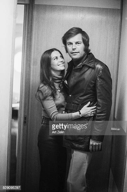 Robert Wagner and Natalie Wood on the SS France second honeymoon circa 1970 New York