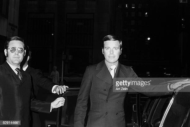 Robert Wagner getting into a limousine circa 1970 New York