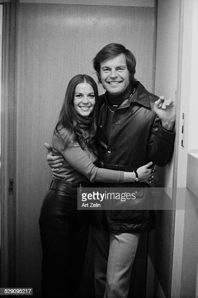 Robert Wagner with Natalie Wood on board the SS France on their second honeymoon circa 1970 New York
